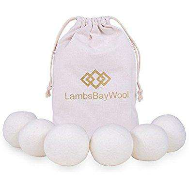 Wool Dryer Balls by LAMBS BAY WOOL 6-Pack, XL Premium