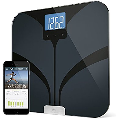 Bluetooth Smart Body Fat Scale by Weight Gurus, Secure