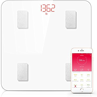 Bluetooth Body Fat Scale, FITINDEX Smart Wireless Digital