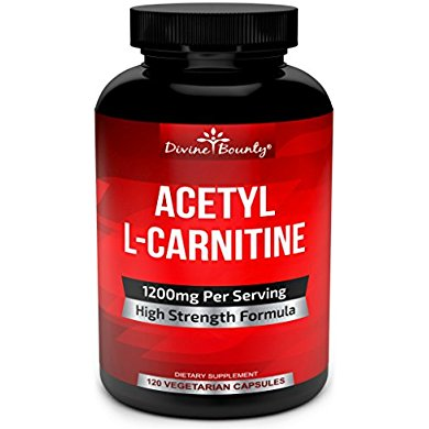 acetyl l carnitine capsules 1200mg per serving l carnitine