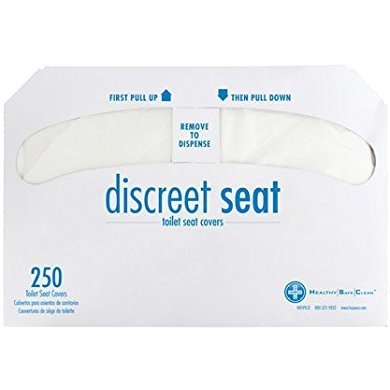 Discreet Discreet Seat DS 1000 Half Fold Toilet Seat Covers,