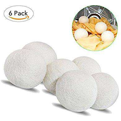 Wool Dryer Balls,XL Size More Bigger - Pack of 6,TANTAI