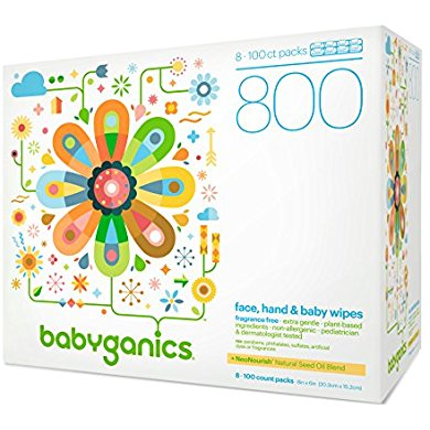 babyganics fragrance free face hand and baby wipes