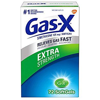 Gas-X Extra Strength Softgel for Fast Gas Relief, 72