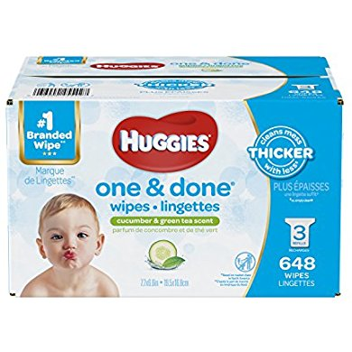 HUGGIES One and Done Refreshing Baby Wipes, Refill Pack
