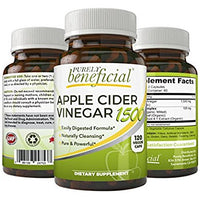 apple cider vinegar 1500 raw organic non gmo 120 capsules