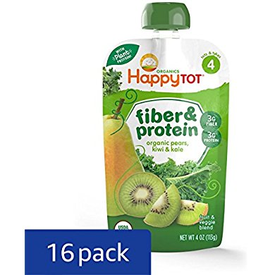 Happy Tot Stage 4, Fiber Protein, Organic Toddler Food