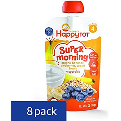 Happy Tot Organic Stage 4 Super Morning, Organic Bananas