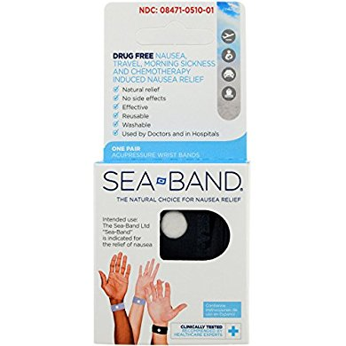 Sea-Band Adult Wristband, Natural Nausea Relief, 1-Pair