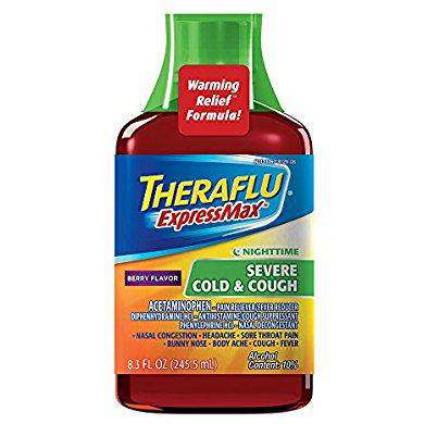 Theraflu ExpressMax Syrup for Nighttime Severe Cold