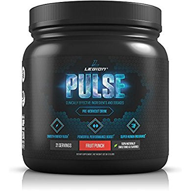 Legion Pulse Pre Workout Supplement - All Natural Nitric