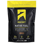 ascent native fuel whey protein powder chocolate