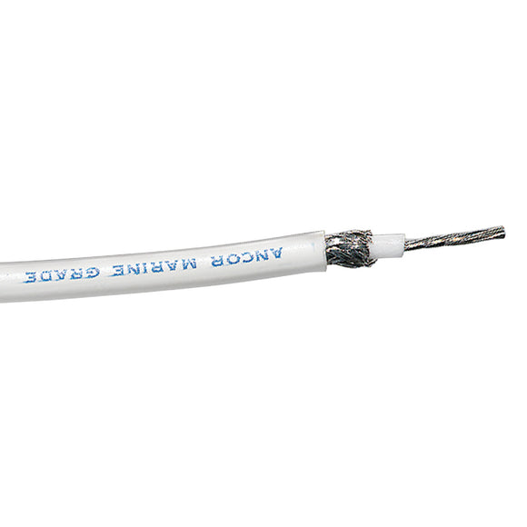 Ancor RG-213 White Tinned Coaxial Cable - 100' [151710]