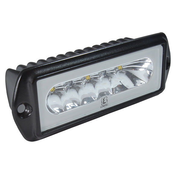 Lumitec Capri2 - Flush Mount LED Flood Light - Black Housing - 2-Color White/Red Dimming [101187]