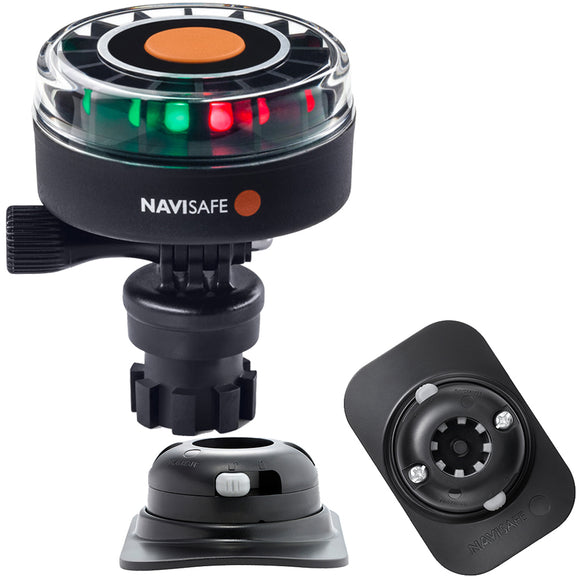 Navisafe Navilight 2NM Tricolor w/Navimount Base  RIB Mount - Black [340KIT2]