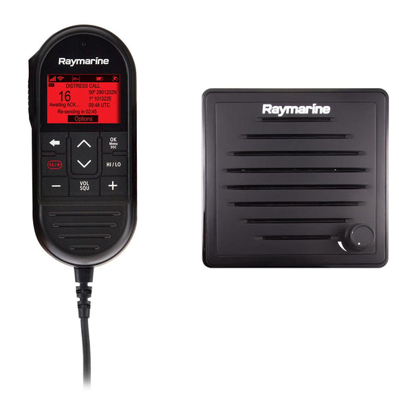 Raymarine Ray90 Wired Second Station Kit w/Passive Speaker, RayMic Wired Handset  RayMic Extension Cable - 10M [T70432]