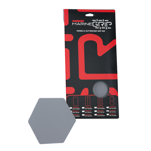 Harken Marine Grip Tape - Honeycomb - Grey - 12 Pieces [MG10HC-GRY]