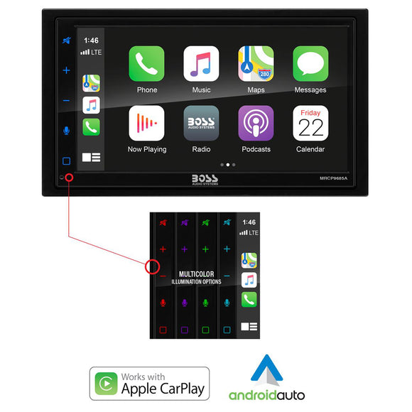 Boss Audio MRCP9685A Stereo w/AM/FM/BT  Apple CarPlay [MRCP9685A]