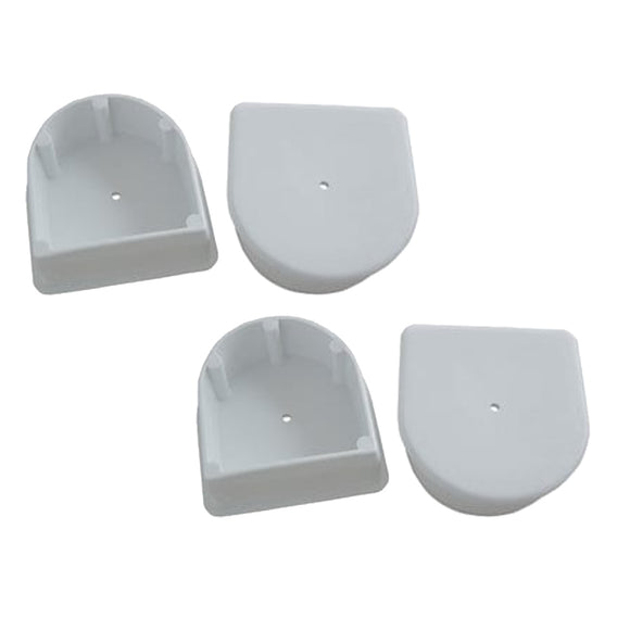 Dock Edge Small End Plug - White *4-Pack [DE1027F]