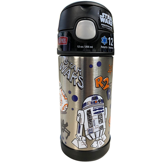 Thermos FUNtainer Stainless Steel Insulated Star Wars Water Bottle w/Straw - 12oz [F40120SW6]