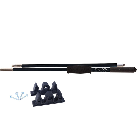 Panther 12 King Pin Anchor Pole - 2-Piece - Black [KPP120B]