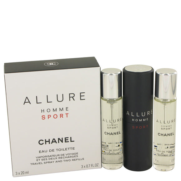 Chanel Chanel Allure Homme Sport Mini EDT Spray + 2 Refills By Chanel