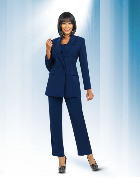Ben Marc Executive 10498 Double-breasted Jacket and Pant Suit