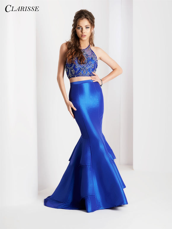 Clarisse Clarisse 3488 Two Piece Halter Mermaid Dress