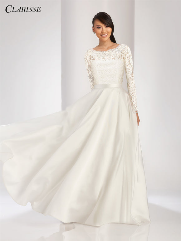 Clarisse Clarisse 3490 Long Sleeve OverSkirt Dress