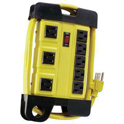 Ww 8 Outlet 6' Metal Ws Pwr Bl