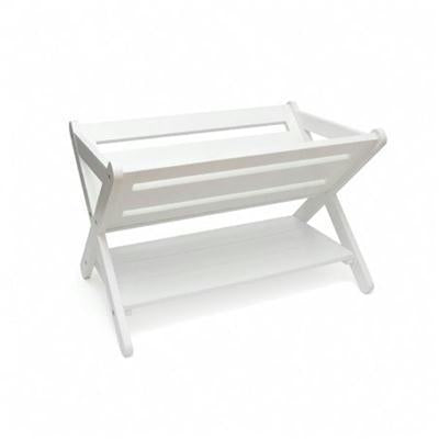 Kid Book Caddy With Shelf White
