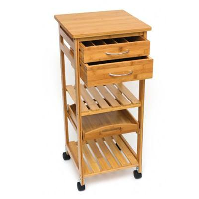 Bamboo Cart With 2 Drawers