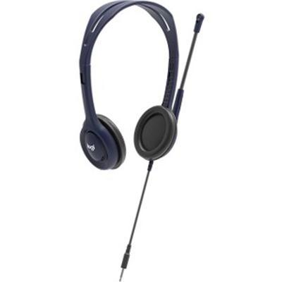 Wired 3.5mm Headset With Mic Blu