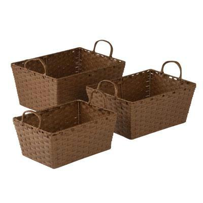 Rope Basket Set Brown 3pc