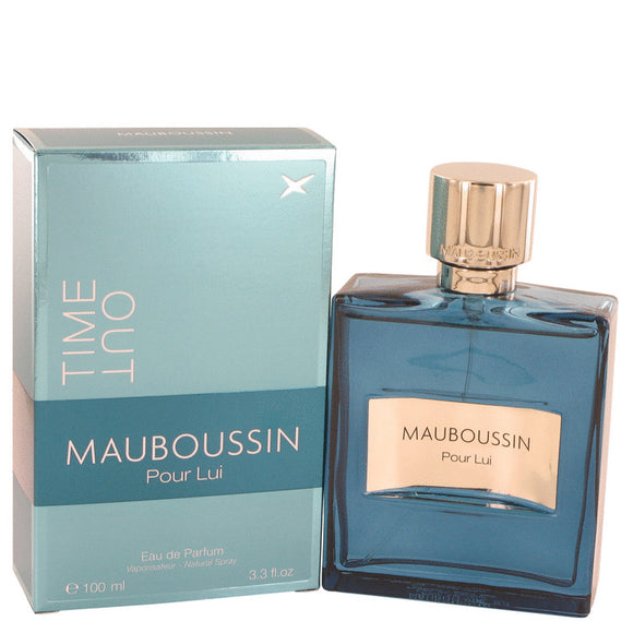Mauboussin Pour Lui Time Out by Mauboussin Eau De Parfum Spray 3.4 oz for Men
