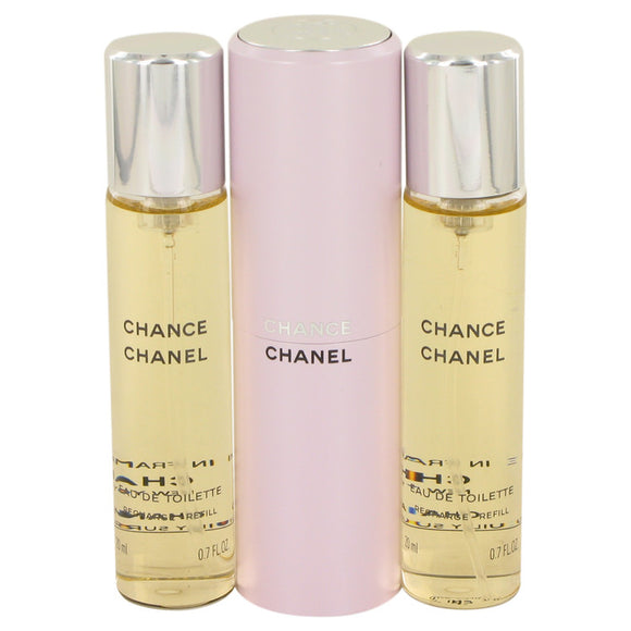 Chance by Chanel Mini EDT Spray + 2 Refills 3 x.7 oz for Women