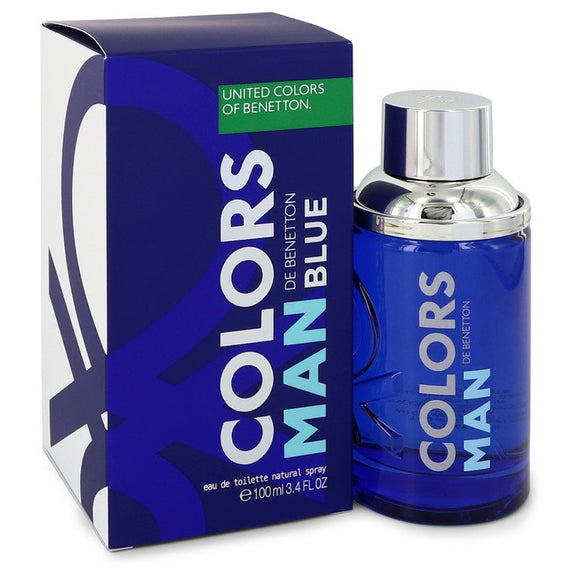 Colors De Benetton Blue by Benetton Eau De Toilette Spray 3.4 oz for Men