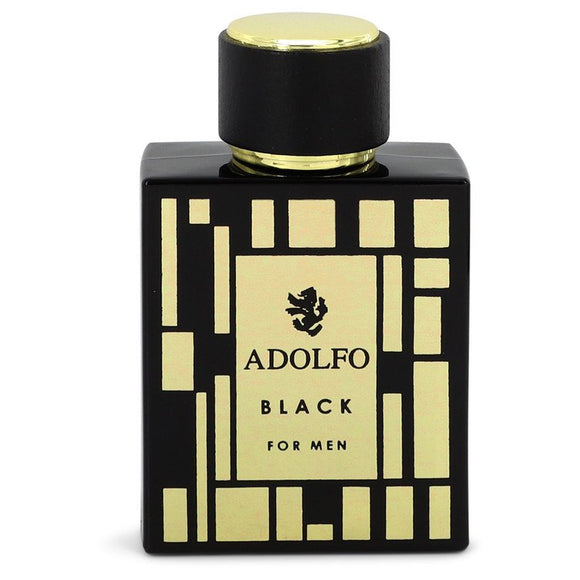 Adolfo Black by Adolfo Eau De Toilette Spray (unboxed) 3.4 oz for Men