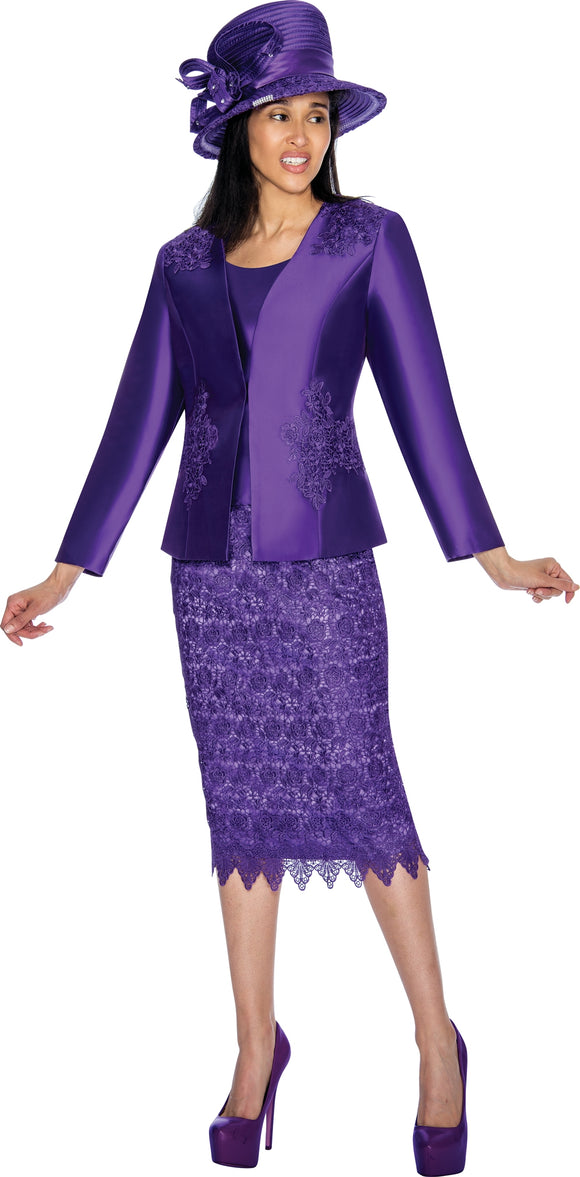 GMI 6952W Lace Trim PlusSize Suit
