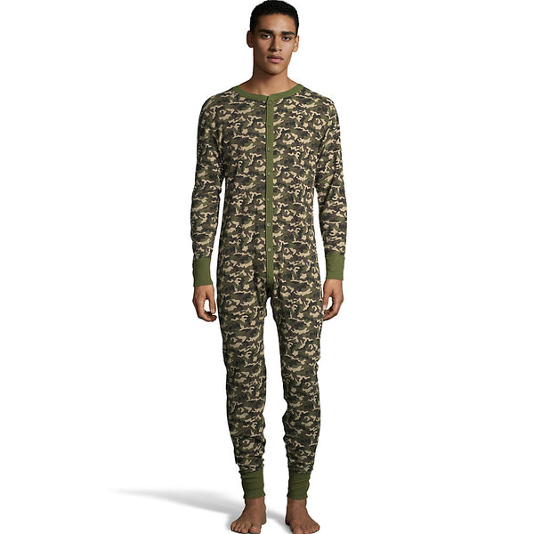 Hanes Men's Big and Tall Camo Waffle Knit Thermal Union Suit 3X-4X
