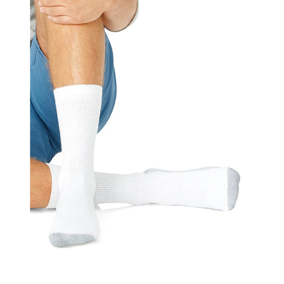 Hanes Men's Big & Tall Cushion Crew Socks 6-Pack