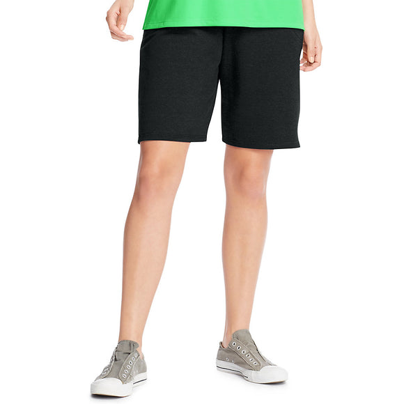 J M S-Just My Size French Terry Women's Shorts with Pockets Style: OJ244-Black 3X