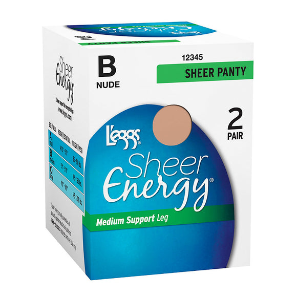 L'eggs Sheer Energy All Sheer 2 Pair