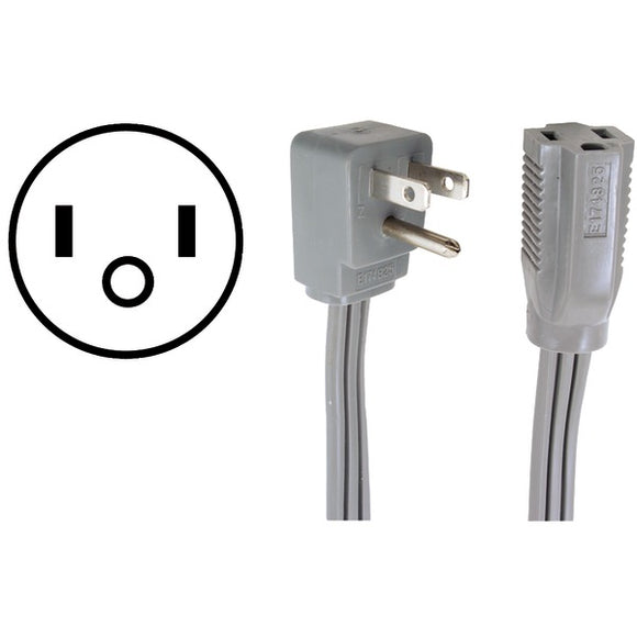 Certified Appliance Accessories(r) Certified Appliance Accessories(R) 15 0306 15 Amp Appliance Extension Cord, 6ft