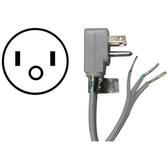 Certified Appliance Accessories(r) Certified Appliance Accessories(R) 15 0348 15 Amp 90deg  Plug Appliance Power Cord, 8ft