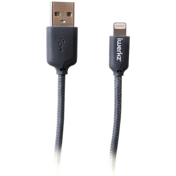 iwerkz(R) 44550 Braided Lightning(R) to USB Cable (4ft; Gray)