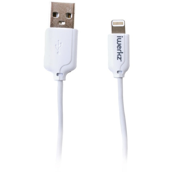 iwerkz(R) 44554 Charge & Sync Lightning(R) to USB Cable (6ft; White)