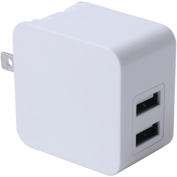 iwerkz(R) 44562 3.4-Amp Dual-Port USB Wall Charger (White)