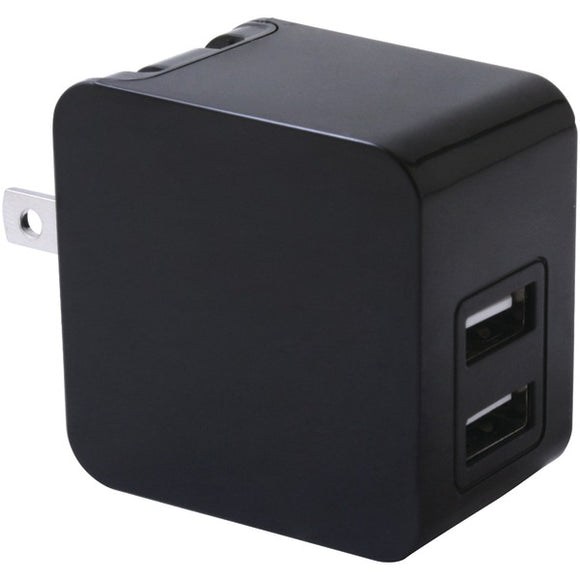 iwerkz(R) 44563 3.4-Amp Dual-Port USB Wall Charger (Black)