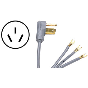 Certified Appliance Accessories Certified Appliance Accessories 90 1052 3 Wire Open Eyelet 40 Amp Range Cord, 5ft